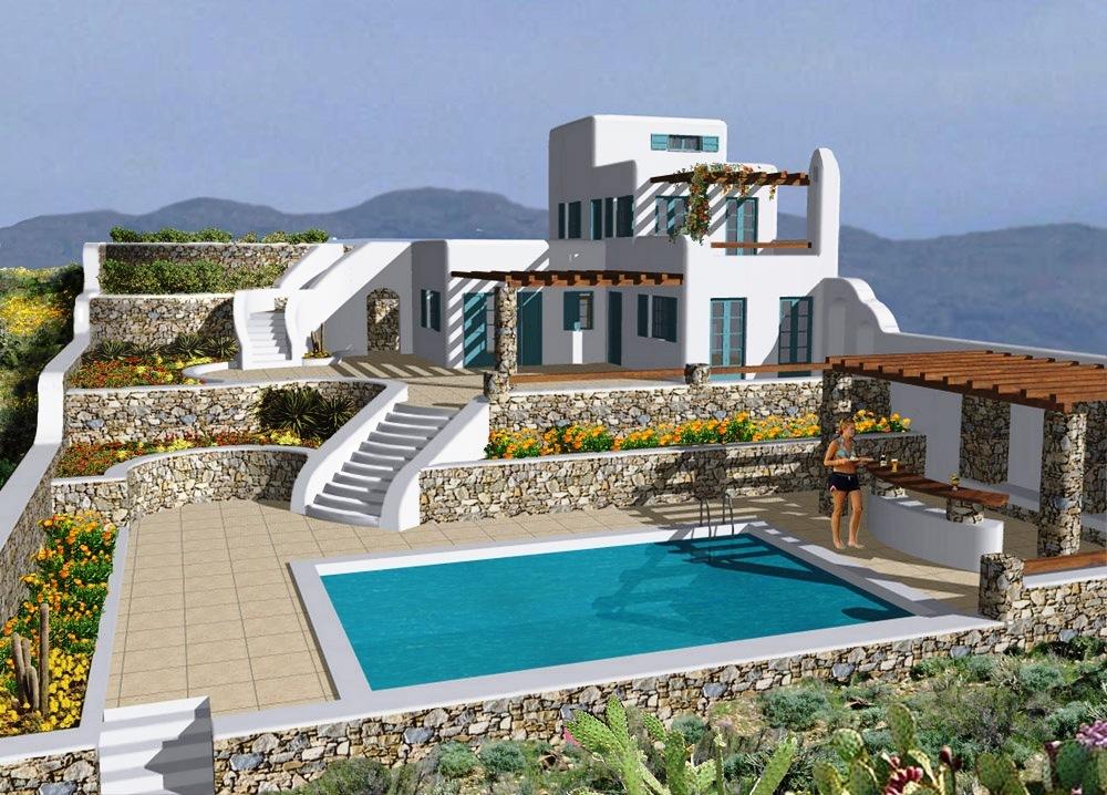 Дом в Миконос на берегу моря
