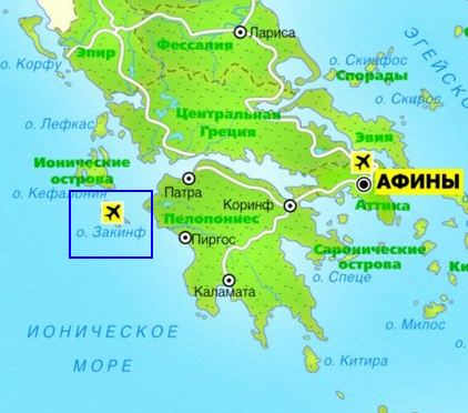 map of zakynthos